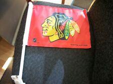 CHICAGO BLACKHAWKS CAR FLAG RED