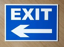Road Exit Sign with Left Arrow.  Plastic outdoor sign.  (PL-118)