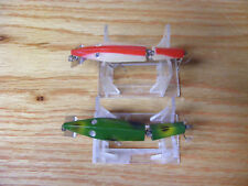 Beautiful Vintage Original Pair of Diamond Jim Lures in Red and White and Frog