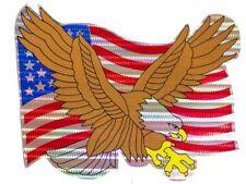 "USA American Bald Eagle Flag Reflective Decal Bumper Sticker 12"""