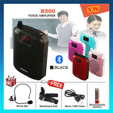 Waistband 5W Portable Voice Amplifier Booster +Wireless Mic For Teaching&Guide