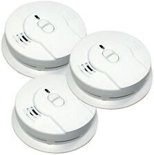 Home Smoke Alarm Detector Sensor 10-Year Lithium Ion Battery Operated 3-Pack New