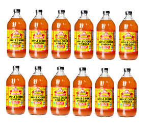 Braggs Apple Cider Vinegar W/T Mother Organic Raw Unfiltered x 12 bottles 946ml