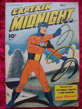 CAPTAIN MIDNIGHT #31 WWII PLANE COVER! 1945 FAWCETT GOLDEN AGE