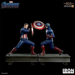 Iron Studios Marvel Avengers Endgame Captain America 2012 vs 2023 Diorama New