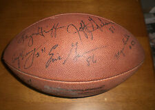 STEELERS TEAM SIGNED FOOTBALL FOSTER - ANDERSON - DAWSON - LIPPS - STONE - MILLS