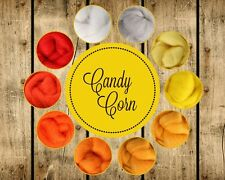 Candy Corn Palette Wool Roving Fiber 2.5ozs/70 gms. Needle Felting Spinning Soap