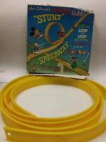 VINTAGE 1968 Walt Disney's Instant Stunt Loop Speedway Box and Track Only~UNIQUE