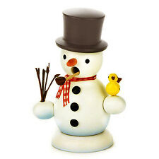 Standing Wooden Snowman Incense Burner Smoker Made In Germany