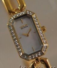 New Ladies Citizen Eco Drive EG2762-51D Silhouette Goldtone Crystal MOP Watch