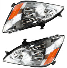 Headlights Lamps Left & Right For 03-2007 Honda Accord Clear Lens Factory Style