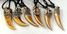 12pc lots cool tibet Mix teeth yellow heavy tiger lion eagle head   pendants  hs
