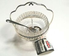 Vintage Silver Plated Jam Dish with Glass Liner - Original Tags.