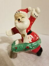 Vintage Christmas Santa Claus Candle Hugger Ring Single Candle Climber