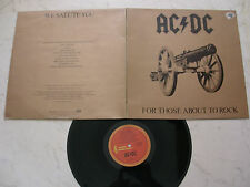 AC/DC For Those About to Rock * australiano Albert ORIGINALE LP 1981 * aplp .053 *