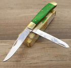 Frost Cutlery Trapper Pocket Knife Stainless Steel Blade Smooth Bone Handle