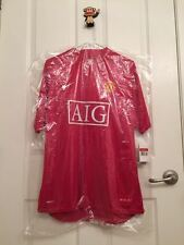 New Authentic Man Utd 08-10 Home Jersey Short Sleeve L size