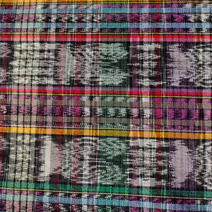 an old 156 x 36 inches hand woven woman's skirt textile guatemala #14