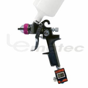LEMATEC HVLP Paint Gun Spray Gun with Digital Air Regulator Flow Valve Accurate