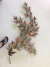 Huge 5 ft Curtis Jere vintage maple leaf sculpture mid century modern leaves