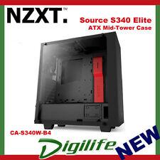 NZXT S340 Elite Matte Black/red ATX Case No PSU