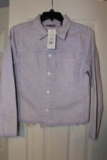 Levi's Line 8 Unisex Lilac Color Trucker Jacket with Raw Hem Size Small