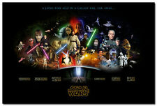 Star Wars Episode 1 to 6 Classic Movie Art Silk Poster 13x20 inches