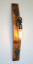 WALL LIGHT LAMP RUSTIC SCONCE WINE BARREL  FITTING LANTERN VINTAGE LIGHT  RETRO