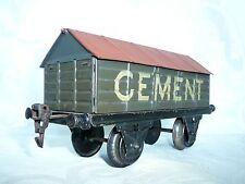 wagon  MÄRKLIN  CEMENT  échelle I - cement wagon - voiture -  no BING