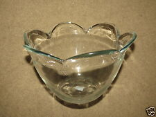"VERY NICE Princess House? flower petal bloom glass bowl ~9"" wide x 6"" tall"