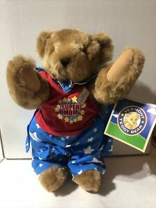"Authentic Vermont Teddy Bear Super Mom Plush 16"" Fully Jointed Stamped Eyes"