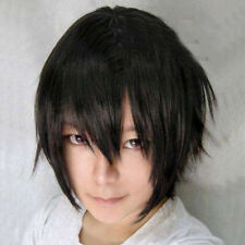 Anime Costume Short Blue straight cosplay party wig hair  full Cosplay wig Decor