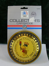 """1984 Los Angeles Olympics Collector's Car Badge - In package - 4"""" - Eagle"""