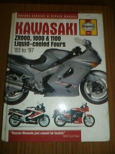 KAWASAKI ZX900, 1000, 1100 LIQUID-COOLED FOURS 83 - 97 ~ HAYNES SERVICE & REPAIR