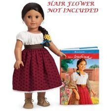 """AUTHENTIC AMERICAN GIRL PC JOSEFINA RETIRED 18"""" DOLL + MEET OUTFIT & BOOK (449)"""