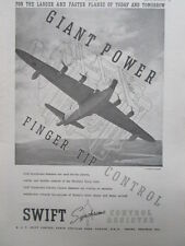 10/1946 PUB SWIFT SYNCHROMO CONTROL ASSISTER SHORT SHETLAND ORIGINAL AD