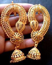 22K Gold Plated Indian Full Ear Earrings Wedding Jhumka Bridal Set Fashion