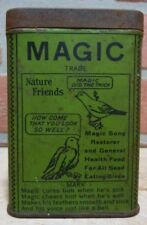 Old MAGIC Song Restorer and Health Food Nature Friend NY Bird Seed Medicine Tin