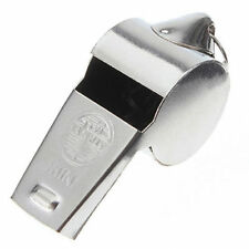METAL REFEREE'S SPORTS WHISTLE KEYRING SCHOOL - PE - FOOTBALL - RUGBY - PARTY