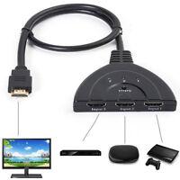 Switch adattatore 3 porte HDMI selettore hub  computer monitor PS3 PS4 HDTV HDVD