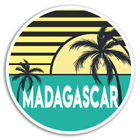 2 x 10cm Madagascar Vinyl Stickers - Cool Travel Sticker Laptop Luggage #18539
