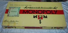 1935-1946 MONOPOLY Parker Brothers Real Estate Trading Game Vintage Sold As Is