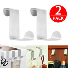 Self Adhesive Hanging Metal Single Hook Clothes Hat Coat Robe Wall Door Saver US