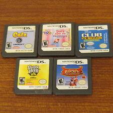 Lot of 5 Nintendo DS Games: Club Penguin, Catz, Dora, Guitar Hero, Rudolph E