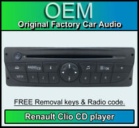 Renault Clio CD player, Renault car stereo, radio code, removal keys 281150049RT