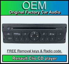 Renault Clio CD MP3 player, Renault car stereo, radio code & removal keys