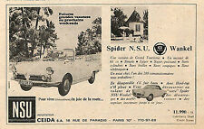 PARIS CEIDA SPIDER NSU WANKEL LAOS-GARAGE ABARTH PUBLICITE 1967