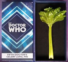 5TH DOCTOR WHO CELERY LAPEL PIN FIFTH DR COSPLAY REPLICA PROP 1:1 SCALE ABBYSHOT