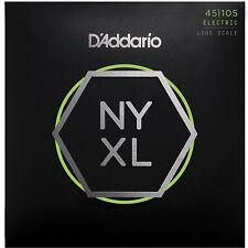 D'Addario Nyxl45105 Bajo Níquel De la herida,Largo Scale,Luz Superior/Med