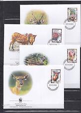 Burundi 2004 - FDC - Dieren / Animals / Tiere  (WWF / WNF)
